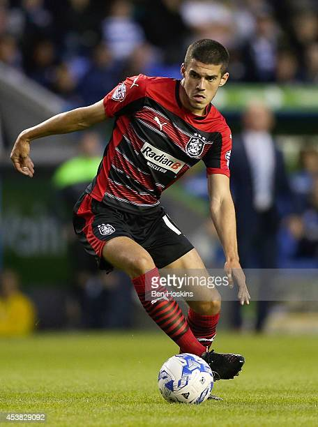Conor Coady of Huddersfield in action during the Sky Bet Championship match between Reading and Huddersfield Town at Madejski Stadium on August 19...