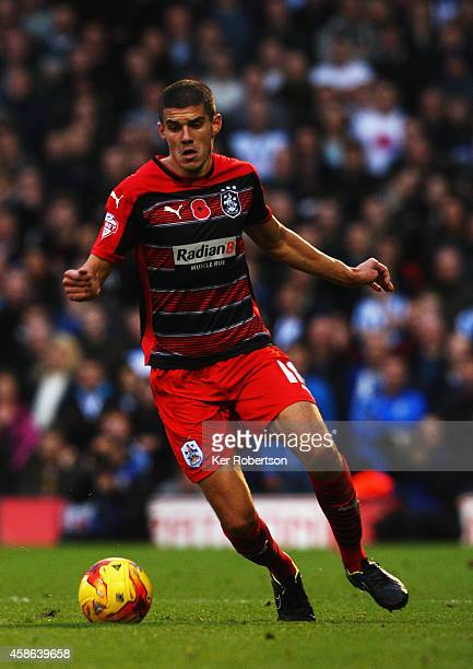 Conor Coady of Huddersfield Town runs with the ball during the Sky Bet Championship match between Fulham and Huddersfield Town at Craven Cottage on...