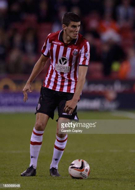 Conor Coady of Sheffield Utd during the Sky Bet League One match between Sheffield United and Crawley Town at Bramall Lane on October 04 2013 in...