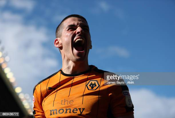 Conor Coady of Wolverhampton Wanderers celebrates after Helder Costa of Wolverhampton Wanderers scored a goal to make it 31 during the Sky Bet...