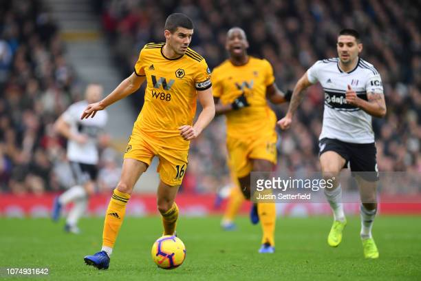 Conor Coady of Wolverhampton Wanderers during the Premier League match between Fulham FC and Wolverhampton Wanderers at Craven Cottage on December 26...