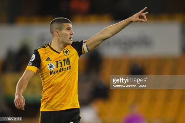 Conor Coady of Wolverhampton Wanderers during the Premier League match between Wolverhampton Wanderers and Newcastle United at Molineux on October 25...