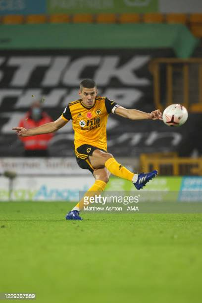 Conor Coady of Wolverhampton Wanderers during the Premier League match between Wolverhampton Wanderers and Crystal Palace at Molineux on October 30...