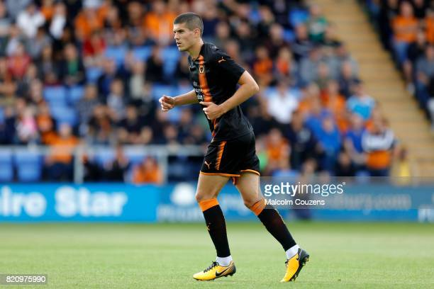 Conor Coady of Wolverhampton Wanderers during the PreSeason Friendly between Shrewsbury Town and Wolverhampton Wanderers at The Montgomery Waters...
