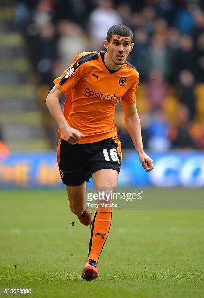 Conor Coady of Wolverhampton Wanderers during the Sky Bet Championship match between Wolverhampton Wanderers and Derby County at Molineux on February...