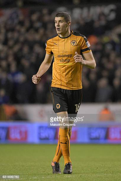 Conor Coady of Wolverhampton Wanderers during the Sky Bet Championship match between Wolverhampton Wanderers and Aston Villa at Molineux on January...