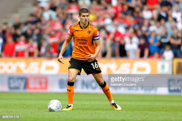 Conor Coady of Wolverhampton Wanderers during the Sky Bet Championship match between Wolverhampton Wanderers and Middlesbrough at Molineux on August...