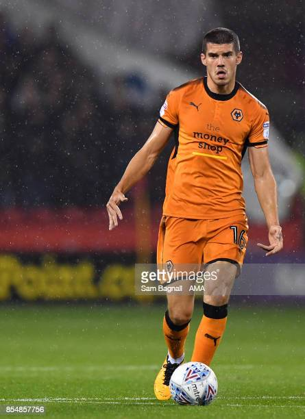 Conor Coady of Wolverhampton Wanderers during the Sky Bet Championship match between Sheffield United and Wolverhampton at Bramall Lane on September...