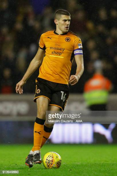 Conor Coady of Wolverhampton Wanderers during the Sky Bet Championship match between Wolverhampton and Sheffield United at Molineux on February 3...