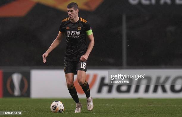 Conor Coady of Wolverhampton Wanderers in action during the Group K UEFA Europa League match between SC Braga and Wolverhampton Wanderers at Estadio...