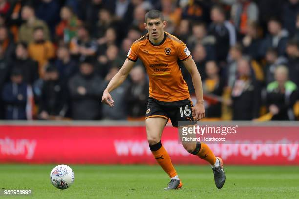 Conor Coady of Wolverhampton Wanderers in action during the Sky Bet Championship match between Wolverhampton Wanderers and Sheffield Wednesday at...