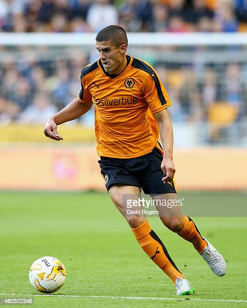 Conor Coady of Wolverhampton Wanderers runs with the ball during the pre season friendly between Wolverhampton Wanderers and Aston Villa at Molineux...