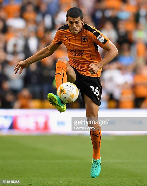 Conor Coady of Wolves during the Sky Bet Championship match between Wolverhampton Wanderers and Ipswich Town at Molineux on August 16 2016 in...