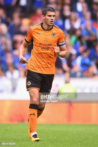 Conor Coady of Wolves in action during the preseason friendly match between Wolverhampton Wanderers and Leicester City at Molineux on July 29 2017 in...