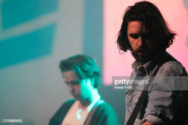 Conor Curley and Conor Deegan of Fontaines DC perform at the RTE Choice Music Prize at Vicar Street on March 05 2020 in Dublin Dublin