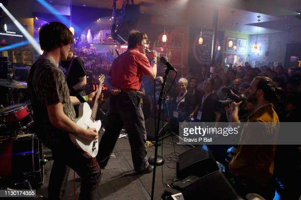Conor Curley and Grian Chatten of Fontaines D.C. Perform onstage at ATC during the 2019 SXSW Conference and Festivals at Latitude 30 on March 12,...