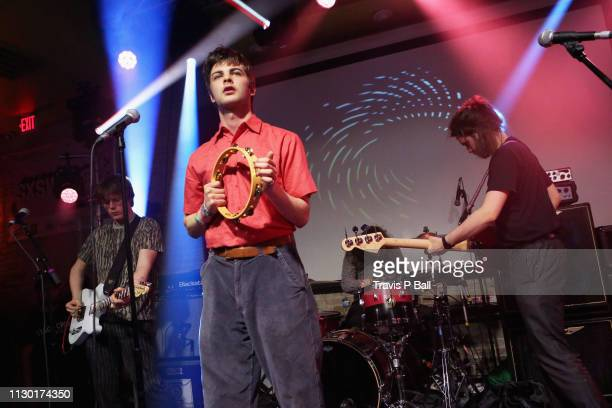 Conor Curley, Grian Chatten, Tom Coll, and Conor Deegan III of Fontaines D.C. Perform onstage at ATC during the 2019 SXSW Conference and Festivals at...