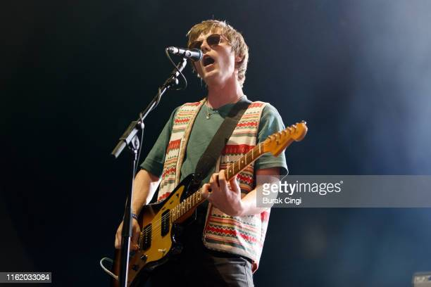Conor Curley of Fontaines DC performs at Citadel Festival at Gunnersbury Park on July 14, 2019 in London, England.