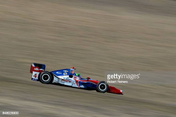 Conor Daly driver of the ABC Supply Chevrolet practices for the GoPro Grand Prix of Sonoma at Sonoma Raceway on September 16 2017 in Sonoma California