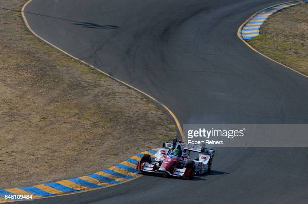 Conor Daly driver of the ABC Supply Chevrolet qualifies for the GoPro Grand Prix of Sonoma at Sonoma Raceway on September 16 2017 in Sonoma California