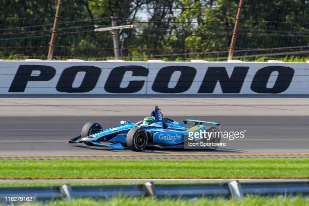 Conor Daly driver of the Gallagher Carlin Chevrolet during the IndyCar Series ABC Supply 500 on August 18 2019 at Pocono Raceway in Long Pond Pa