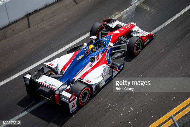 Conor Daly drives the Chevrolet IndyCar on the track during the Firestone Grand Prix of St Petersburg IndyCar race on March 12 2017 in St Petersburg...