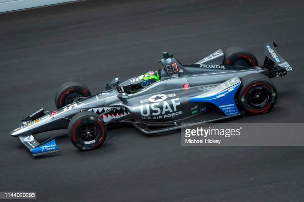 Conor Daly of Great Britain and Andretti Autosport practices at the Indianapolis Motor Speedway on May 15 2019 in Indianapolis Indiana