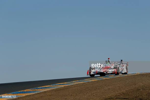 Conor Daly of the United States driver of the ABC Supply Chevrolet races in the GoPro Grand Prix of Sonoma at Sonoma Raceway on September 17 2017 in...