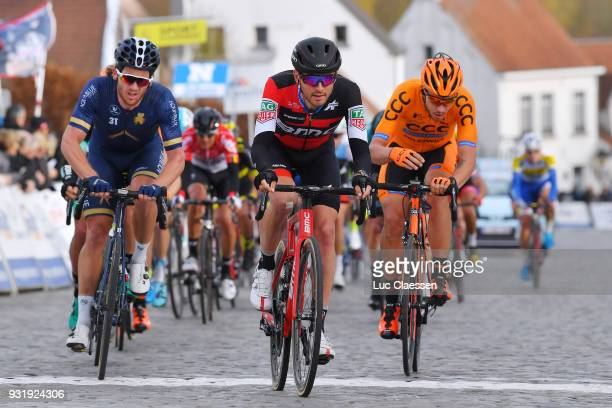 Conor Dunne of Ireland and Team Aqua Blue Sport / Joey Rosskopf of United States and BMC Racing Team / Kamil Malecki of Poland and CCC Sprandi...