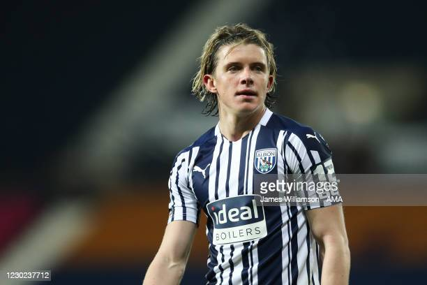 Conor Gallagher of West Bromwich Albion during the Premier League match between West Bromwich Albion and Aston Villa at The Hawthorns on December 20,...