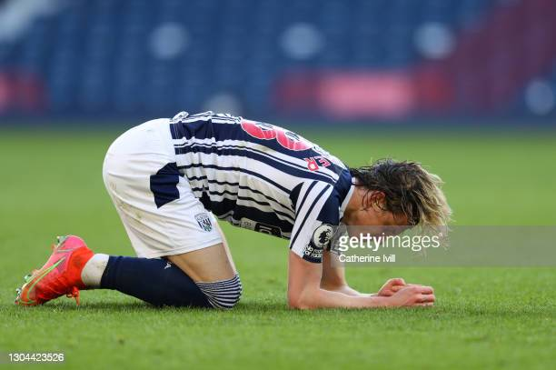 Conor Gallagher of West Bromwich Albion during the Premier League match between West Bromwich Albion and Brighton & Hove Albion at The Hawthorns on...