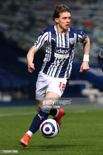 Conor Gallagher of West Bromwich Albion during the Premier League match between West Bromwich Albion and Newcastle United at The Hawthorns on March...