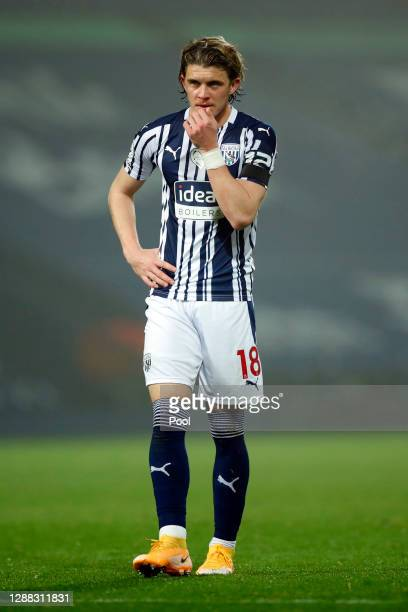 Conor Gallagher of West Bromwich Albion looks on during the Premier League match between West Bromwich Albion and Sheffield United at The Hawthorns...