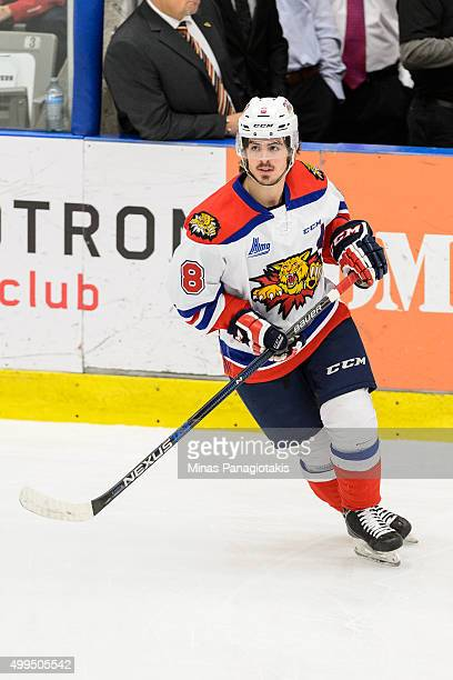 Conor Garland of the Moncton Wildcats skates during the warmup prior to the QMJHL game against the Blainville-Boisbriand Armada at the Centre...