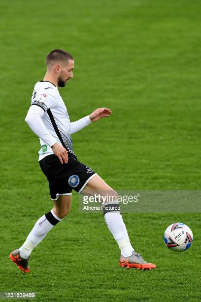 Conor Hourihane of Swansea City during the Sky Bet Championship match between Swansea City and Cardiff City at the Liberty Stadium on March 20, 2021...