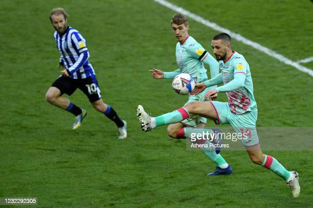 Conor Hourihane of Swansea City in action during the Sky Bet Championship match between Sheffield Wednesday and Swansea City at the Hillsborough...