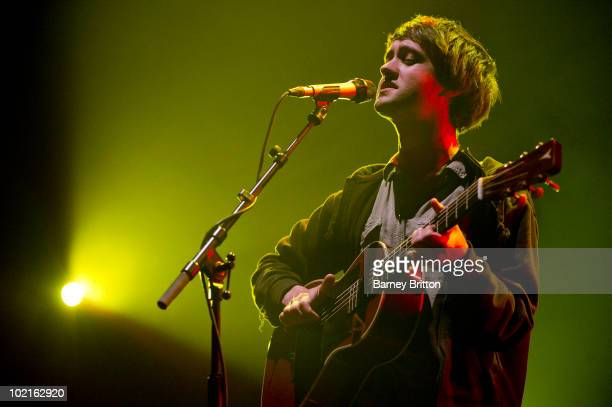 Conor J O'Brien of Villagers performs on stage at the Queen Elizabeth Hall on June 15 2010 in London England