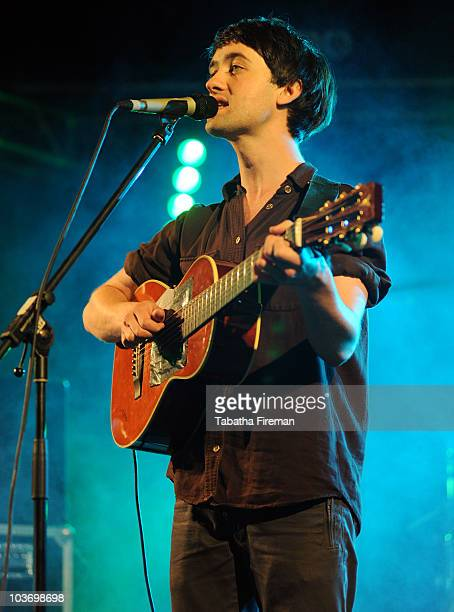 Conor J O'Brien of Villagers performs on the Festival Republic stage during the second day of Reading Festival on August 28 2010 in Reading England