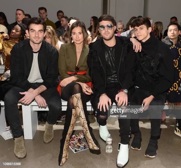 Conor Kennedy Danielle Bernstein Andrew Warren and Jackson Krecioch attend the Taoray Wang front row during New York Fashion Week The Shows at...