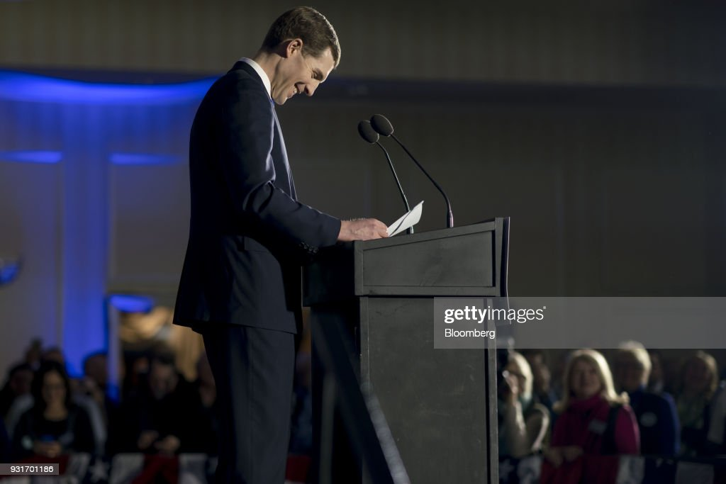 Democratic U.S. House Of Representatives Candidate Conor Lamb Holds Election Night Rally