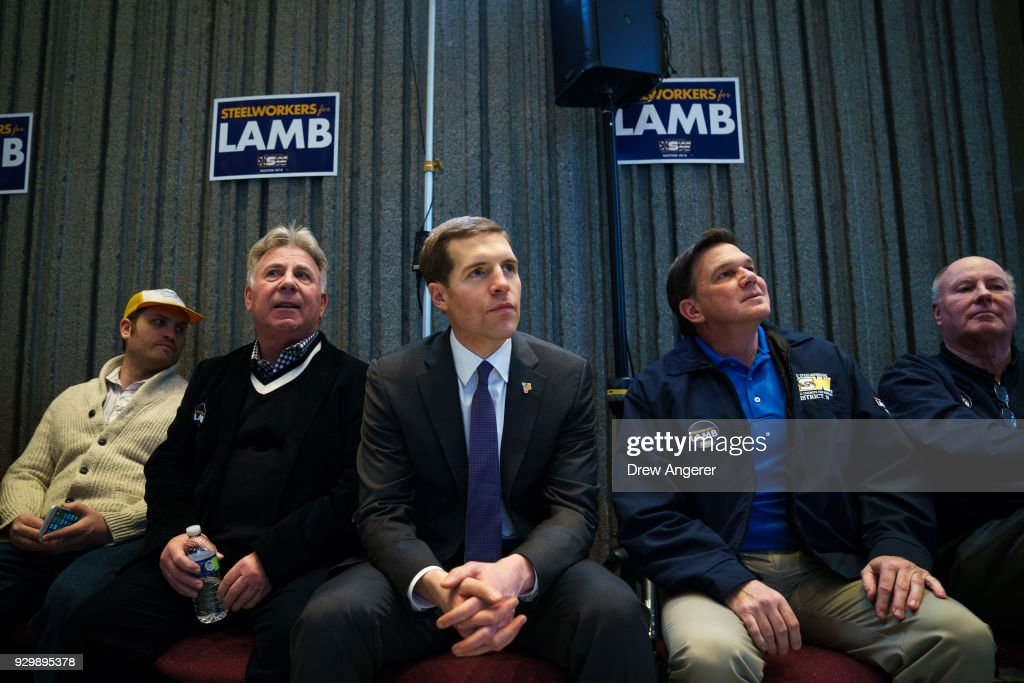 Democratic Candidate In Pennsylvania's Special Election Conor Lamb Holds Campaign Event In Pittsburgh