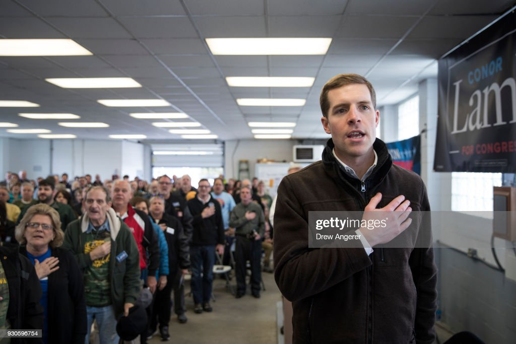 Democratic Conor Lamb Campaigns For Pennsylvania's 18th Congressional District Special Election