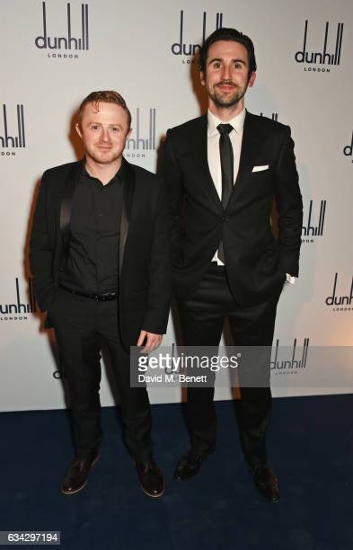 Conor MacNeill and guest attend the dunhill and Dylan Jones preBAFTA dinner and cocktail reception celebrating Gentlemen in Film at Bourdon House on...