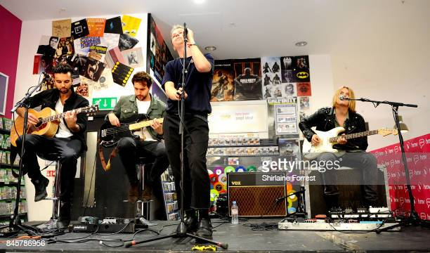 Conor Mason Joe LangridgeBrown Dominic Craik and Philip Blake of Nothing But Thieves perform live and sign copies of their new album 'Broken Machine'...