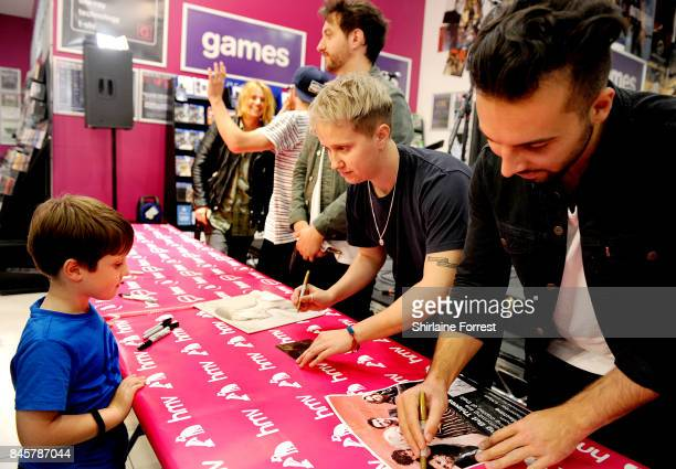 Conor Mason Joe LangridgeBrown Dominic Craik Philip Blake and James Price of Nothing But Thieves perform live and sign copies of their new album...