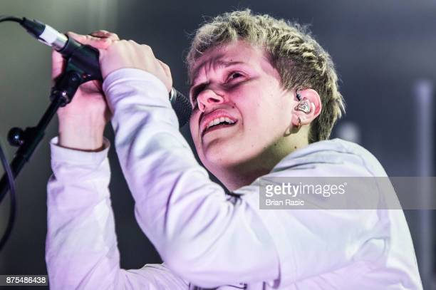 Conor Mason of Nothing But Thieves performs at The Roundhouse on November 17 2017 in London England