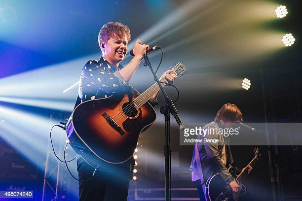 Conor Mason of Nothing But Thieves performs on stage at Electric Ballroom on October 30 2015 in London England