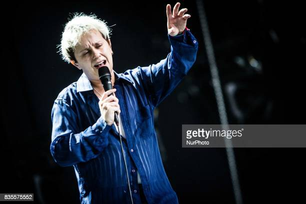 Conor Mason of the english alternative rock band Nothing But Thieves performing live at Lowlands Festival 2017 Biddinghuizen Netherlands on 18 August...