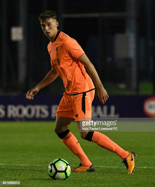 Conor Masterson of Liverpool in action during the Molson Coors Senior Cup Final at The County Ground on September 1 2017 in Leyland England