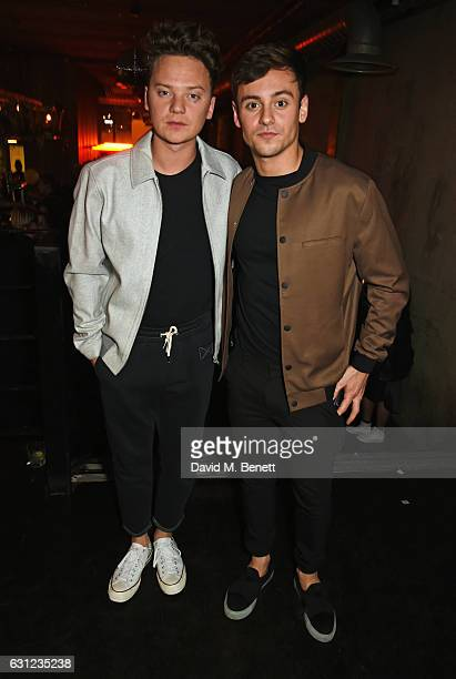 Conor Maynard and Tom Daley attend the BoomBox 10 Year Anniversary party presented by New Look Men and Rollacoaster at Hoxton Square Bar And Kitchen...